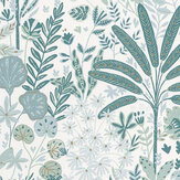 Caselio Hope Teal, Green and Gold Wallpaper - Product code: 100597128