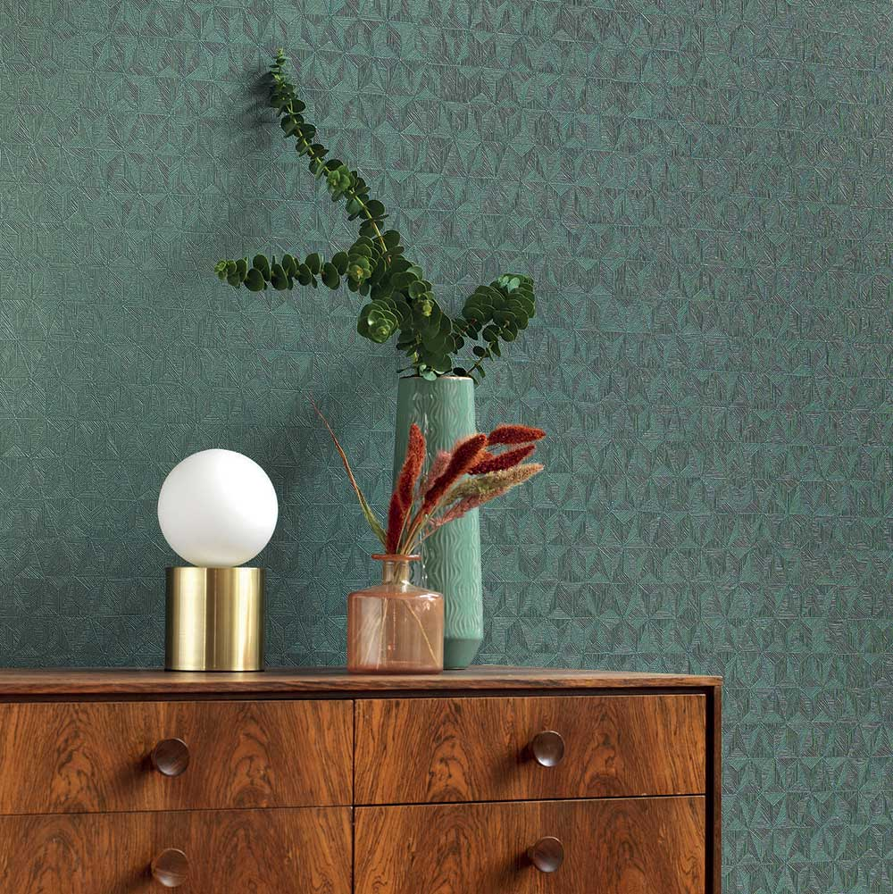 Delta Wallpaper - Forest Green - by Casadeco