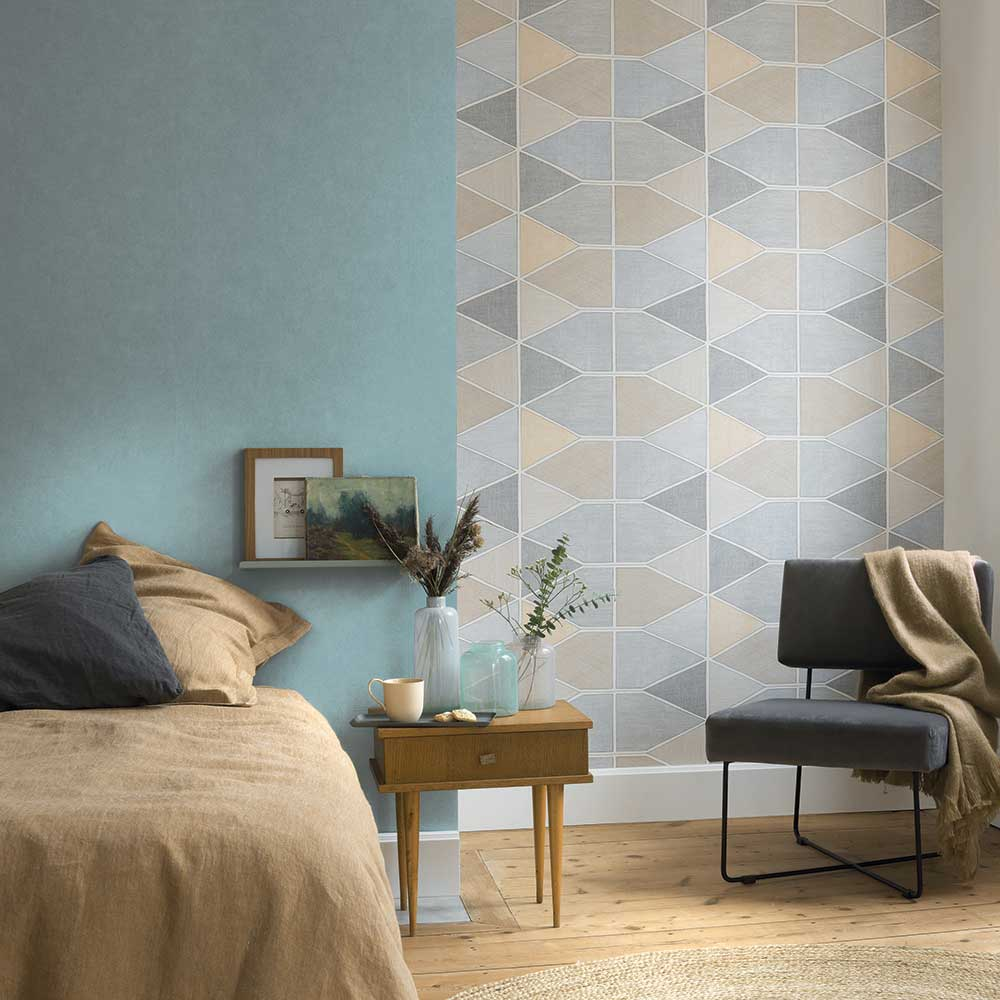 Stella Color Wallpaper - Multi-coloured - by Casadeco
