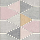 Casadeco Stella Color Pink / Grey Wallpaper - Product code: 84155208