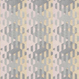 Casadeco Yana Pink / Grey Wallpaper - Product code: 84165212
