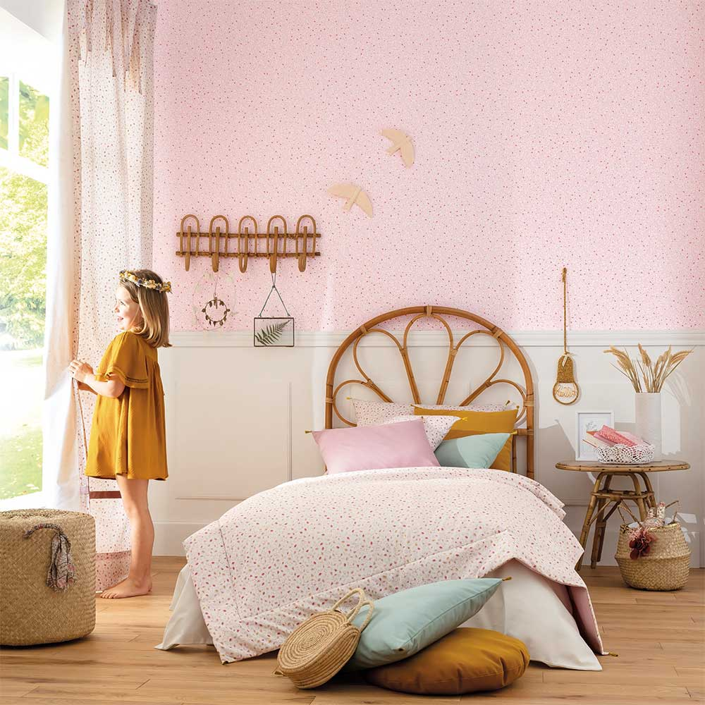 Caselio Bloom Baby Bloom Pink and Gold Wallpaper - Product code: 100764121