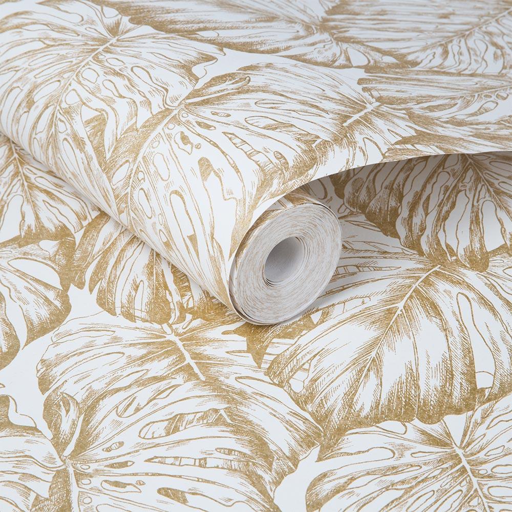 Tropical Wallpaper - Pearl - by Graham & Brown