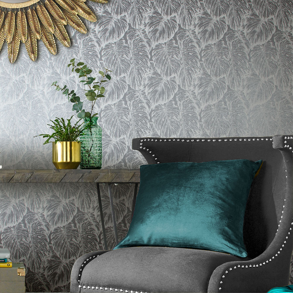 Graham & Brown Tropical Pewter Wallpaper - Product code: 103769