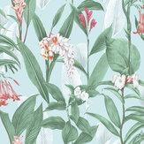 Graham & Brown Botanical Duck Egg Wallpaper - Product code: 103800