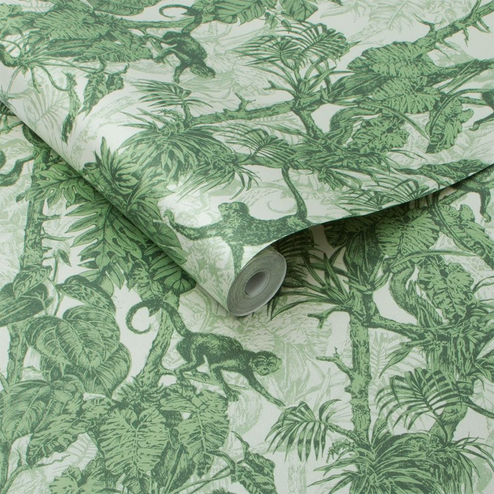 Ubud Wallpaper - Palm - by Graham & Brown