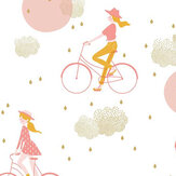 Caselio Lucy In The Sky Pink and Gold Wallpaper - Product code: 100844928
