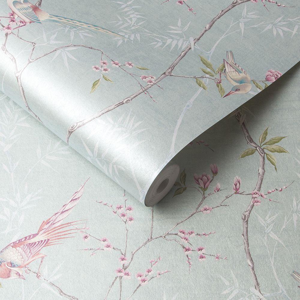 Graham & Brown Tori Duck Egg Wallpaper - Product code: 105767