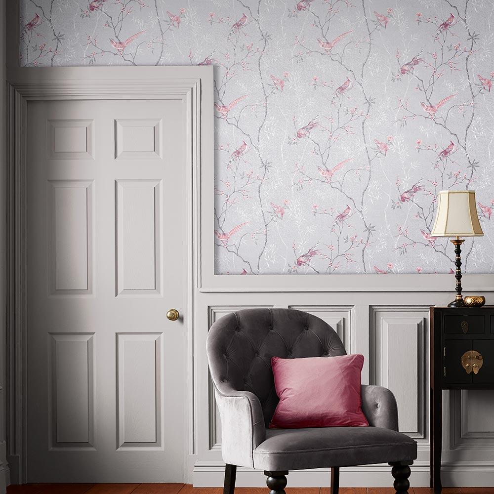Tori Wallpaper - Mist - by Graham & Brown