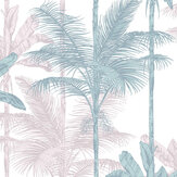 Graham & Brown Jungle Blush / Green Wallpaper - Product code: 105915