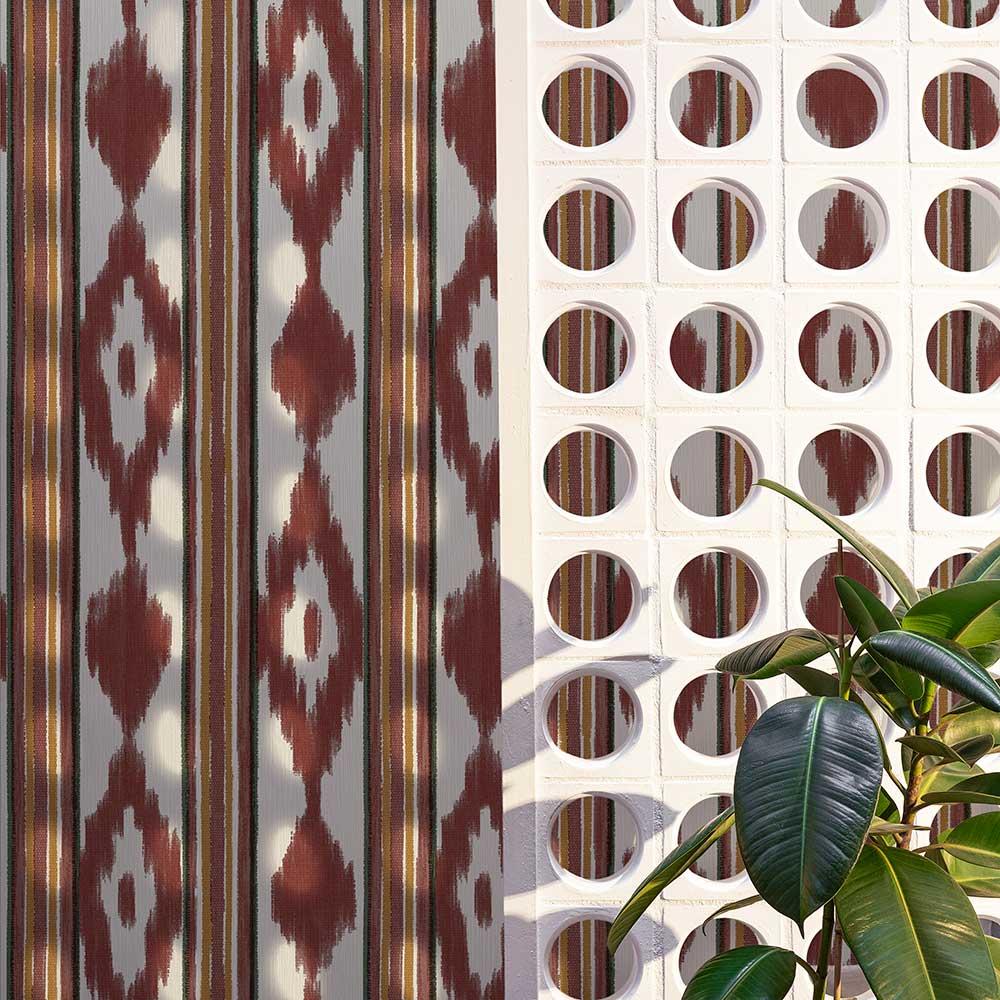 Lloseta Wallpaper - Wine - by Coordonne