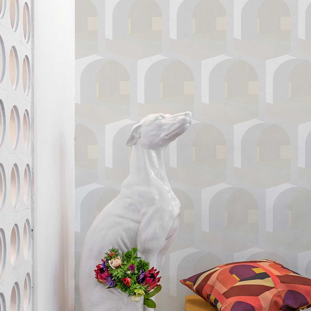 Soller Wallpaper - Ivory - by Coordonne