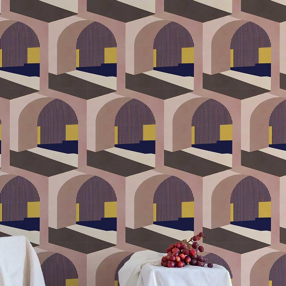 Soller Wallpaper - Pink - by Coordonne
