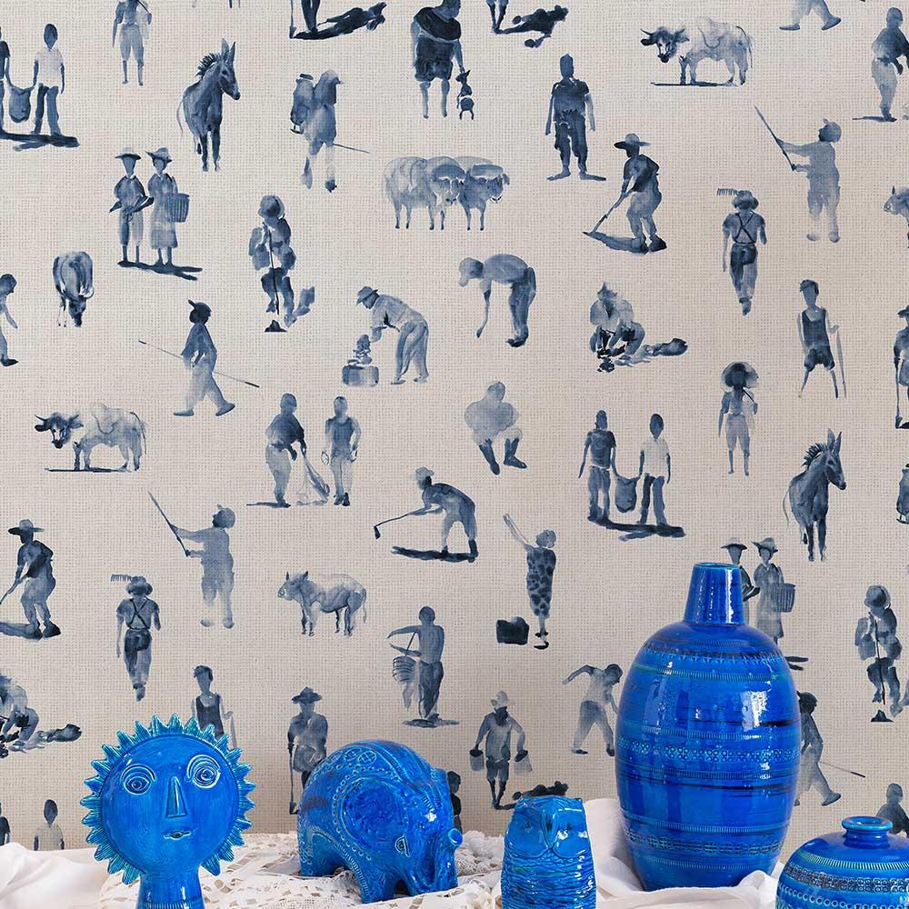 Sineu Wallpaper - Indigo - by Coordonne