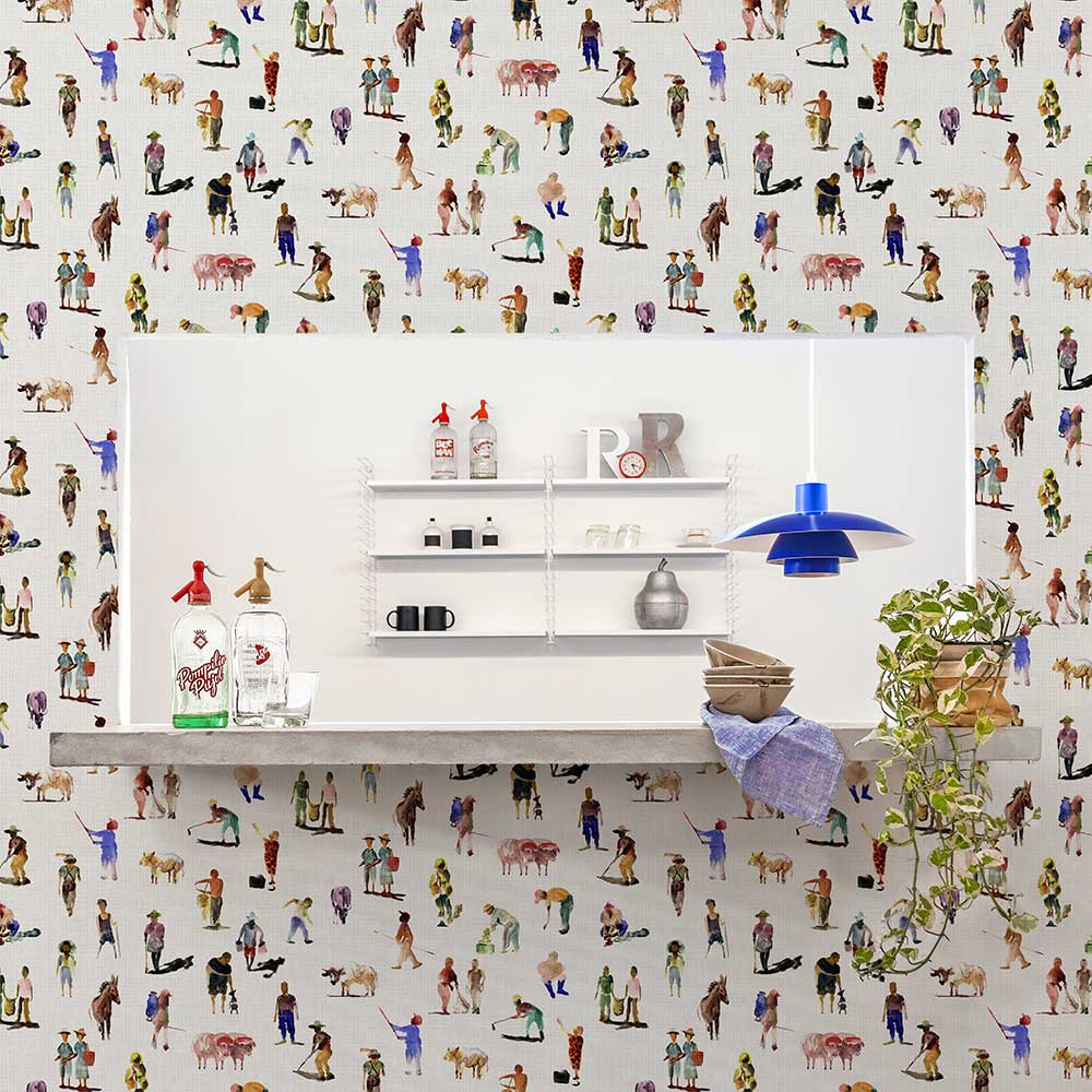 Sineu Wallpaper - Multi-coloured - by Coordonne