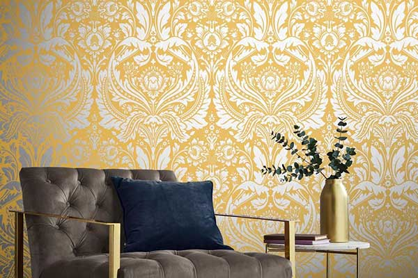 Graham & Brown Desire Saffron Wallpaper - Product code: 105902