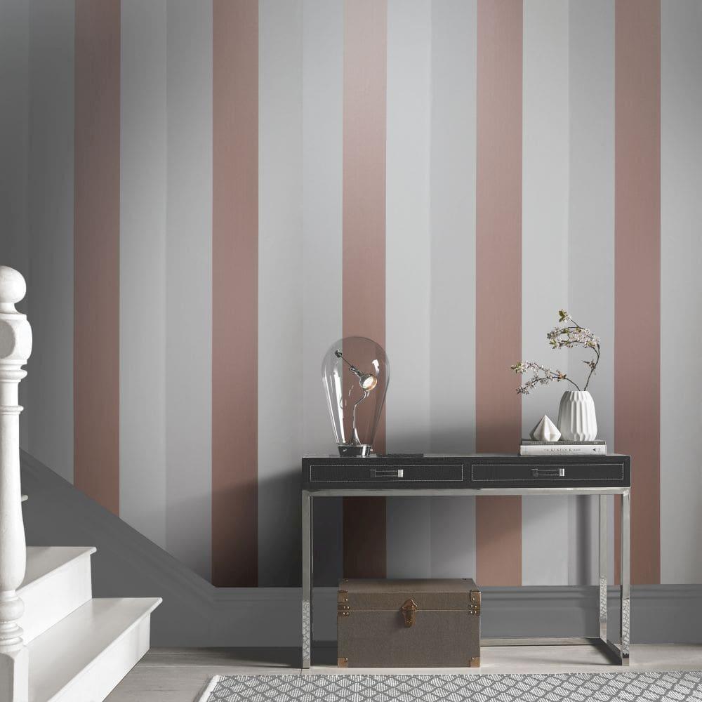 Figaro Wallpaper - Mink - by Graham & Brown