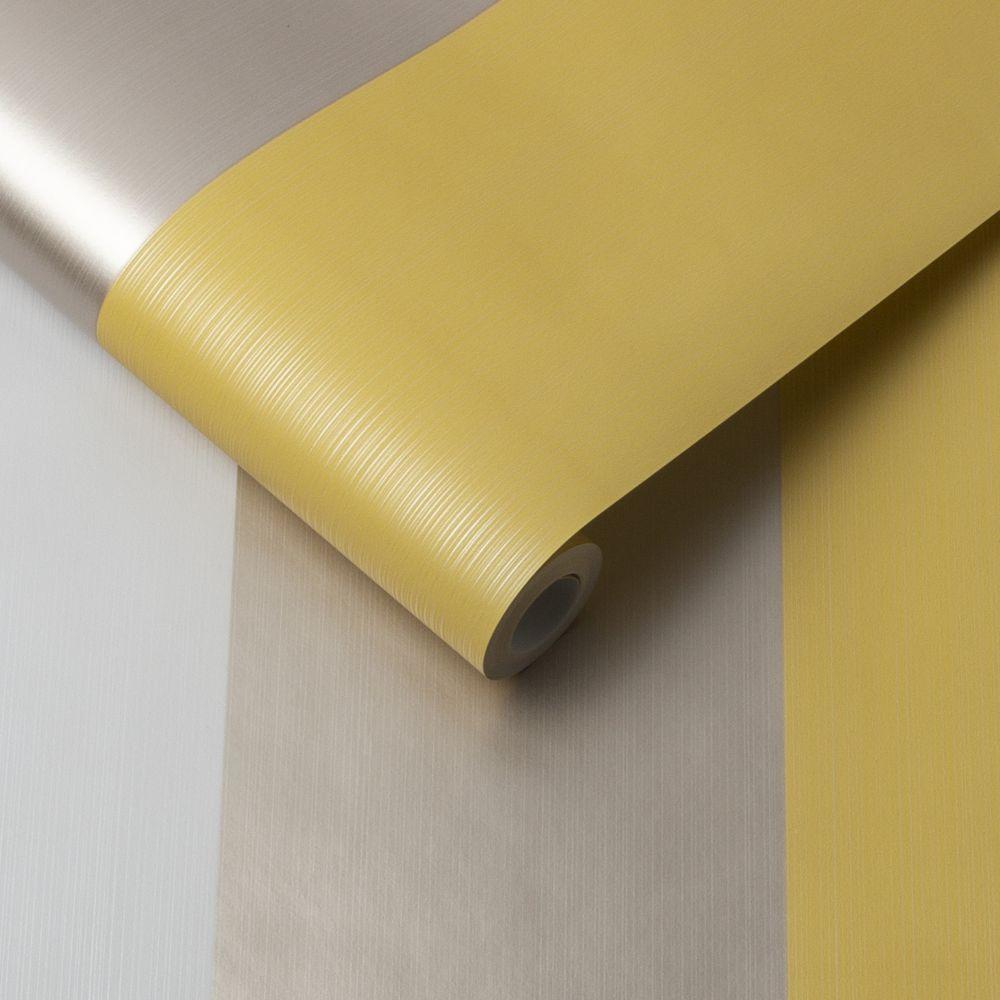 Figaro Wallpaper - Yellow - by Graham & Brown