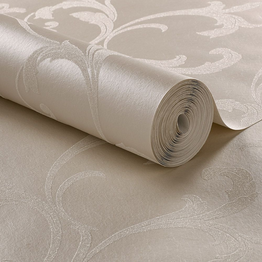Baroque Bead Wallpaper - Pearl - by Graham & Brown