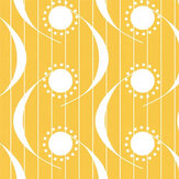 Layla Faye Dot Swish Mustard Wallpaper - Product code: LF1067