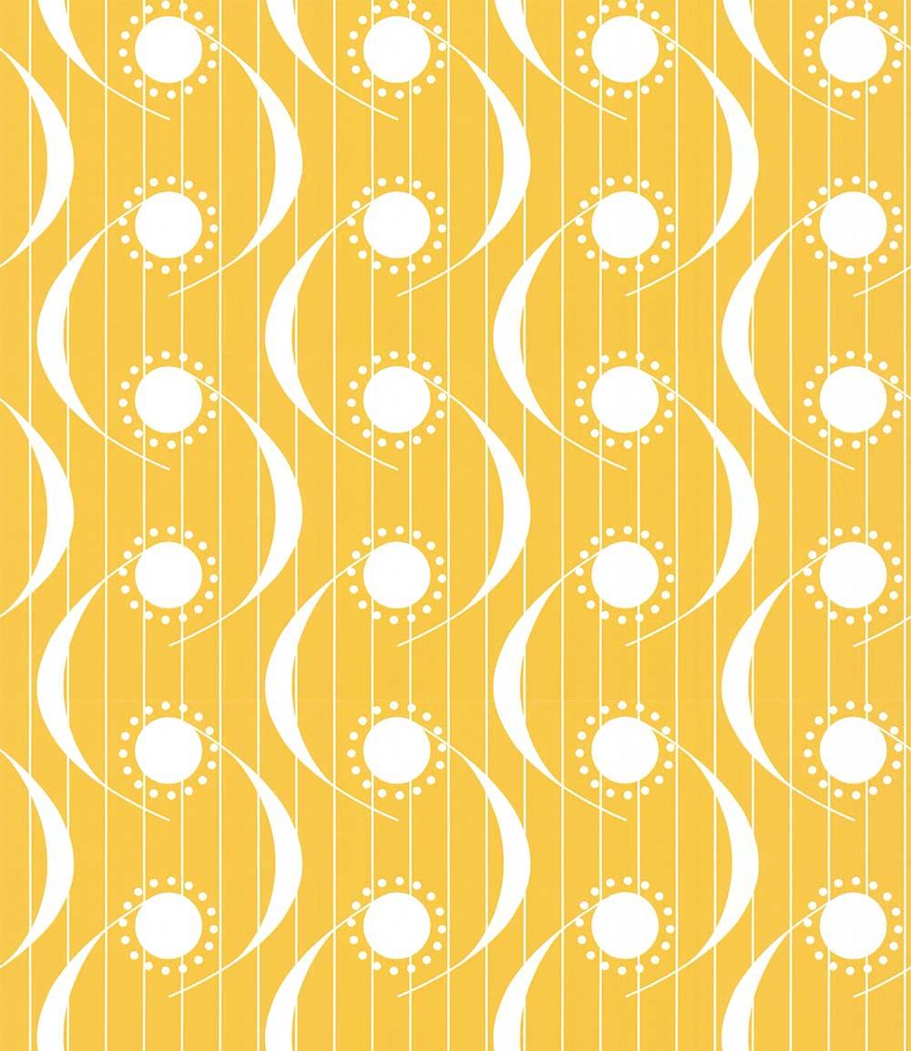 Layla Faye Dot Swish Mustard Wallpaper - Product code: LF1067