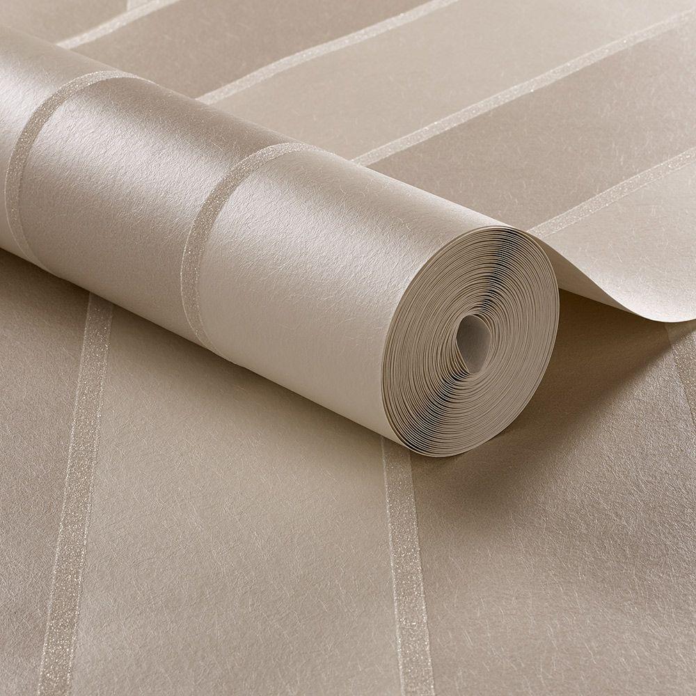 Graham & Brown Baroque Bead Stripe Pearl Wallpaper - Product code: 103819