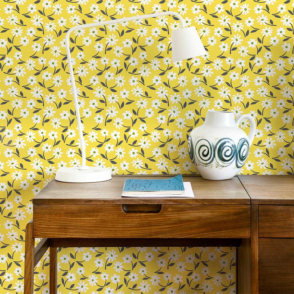 Layla Faye Little Flower Buttercup Yellow Wallpaper - Product code: LF1070