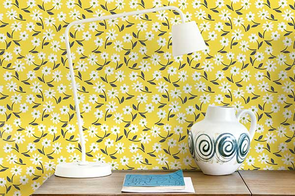 Layla Faye Little Flower Buttercup Yellow Wallpaper - Product code: LF1070