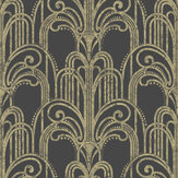 Graham & Brown Art Deco Black / Gold Wallpaper - Product code: 104299