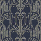 Graham & Brown Art Deco Midnight Wallpaper - Product code: 105920