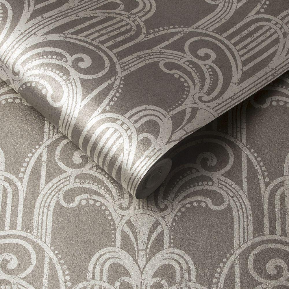 Graham & Brown Art Deco Natural Wallpaper - Product code: 105921