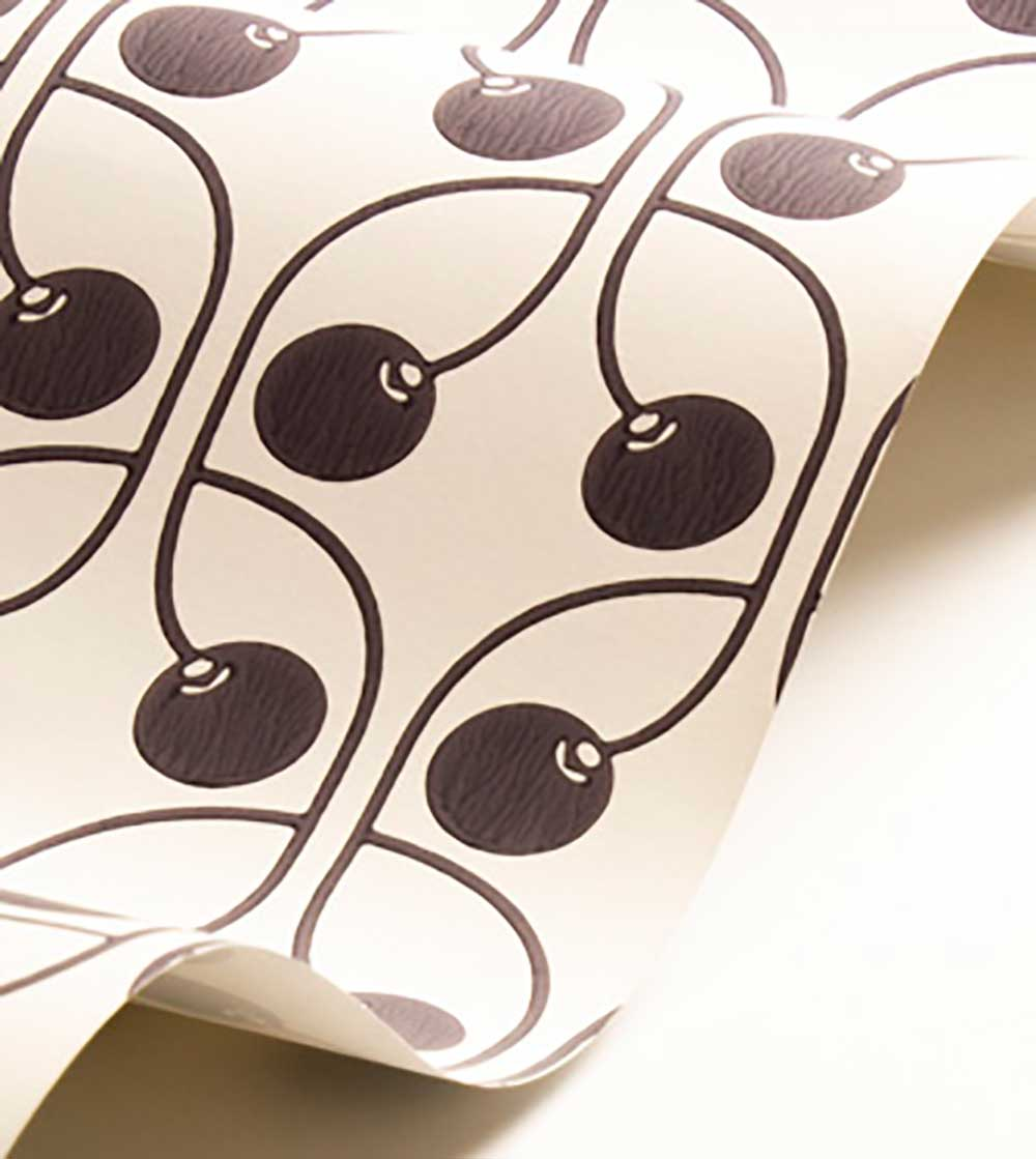 Cherry Wallpaper - Monochrome - by Layla Faye