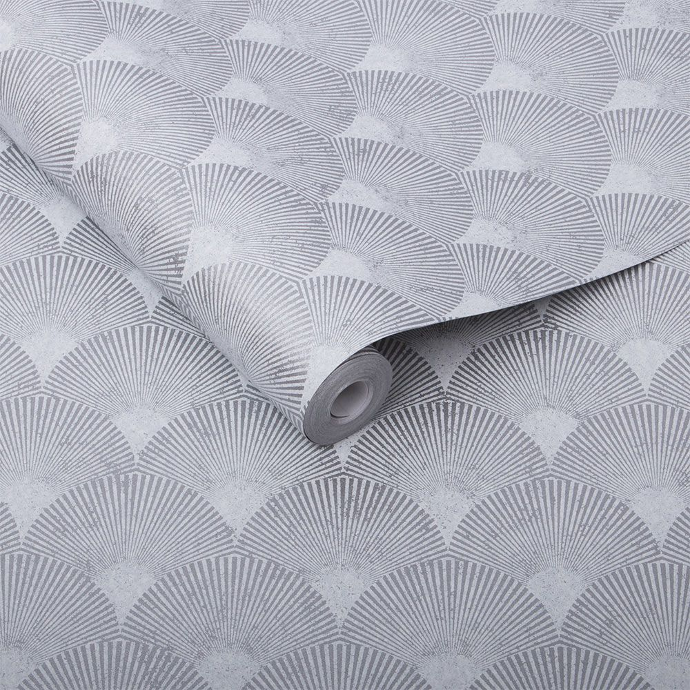 Graham & Brown Fan Silver Wallpaper - Product code: 104301