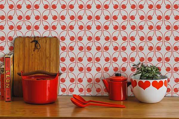 Layla Faye Cherry Cherry Red Wallpaper - Product code: LF1074