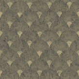 Graham & Brown Fan Black / Gold Wallpaper - Product code: 104303