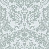 Graham & Brown Gothic Damask Flock Grey / Silver Wallpaper - Product code: 104564