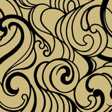 Graham & Brown Hula Swirl Gilded Wallpaper - Product code: 105272