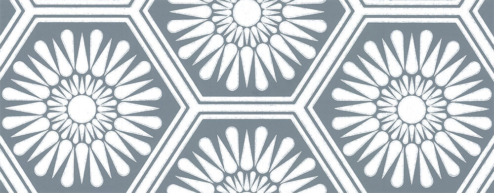 Layla Faye Hex Deep Marine Wallpaper - Product code: LF1079