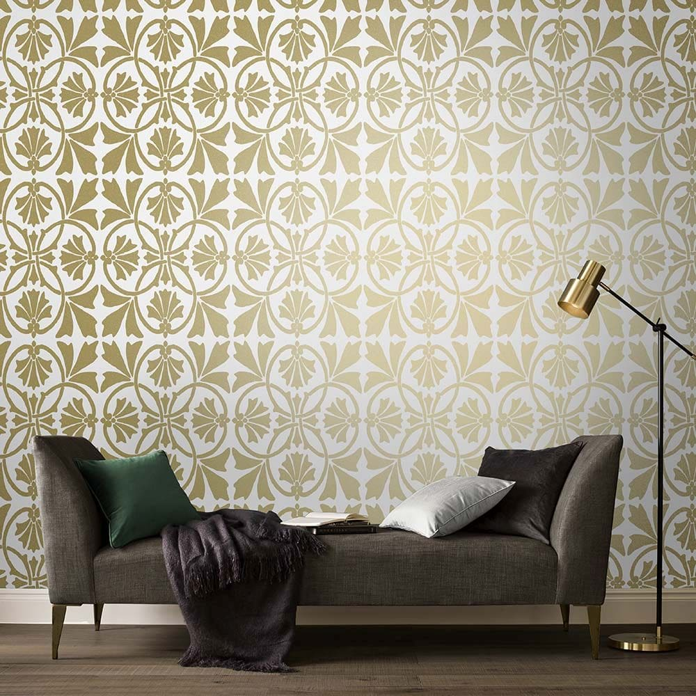 Graham & Brown Thrones Golden Pearl Wallpaper - Product code: 105276