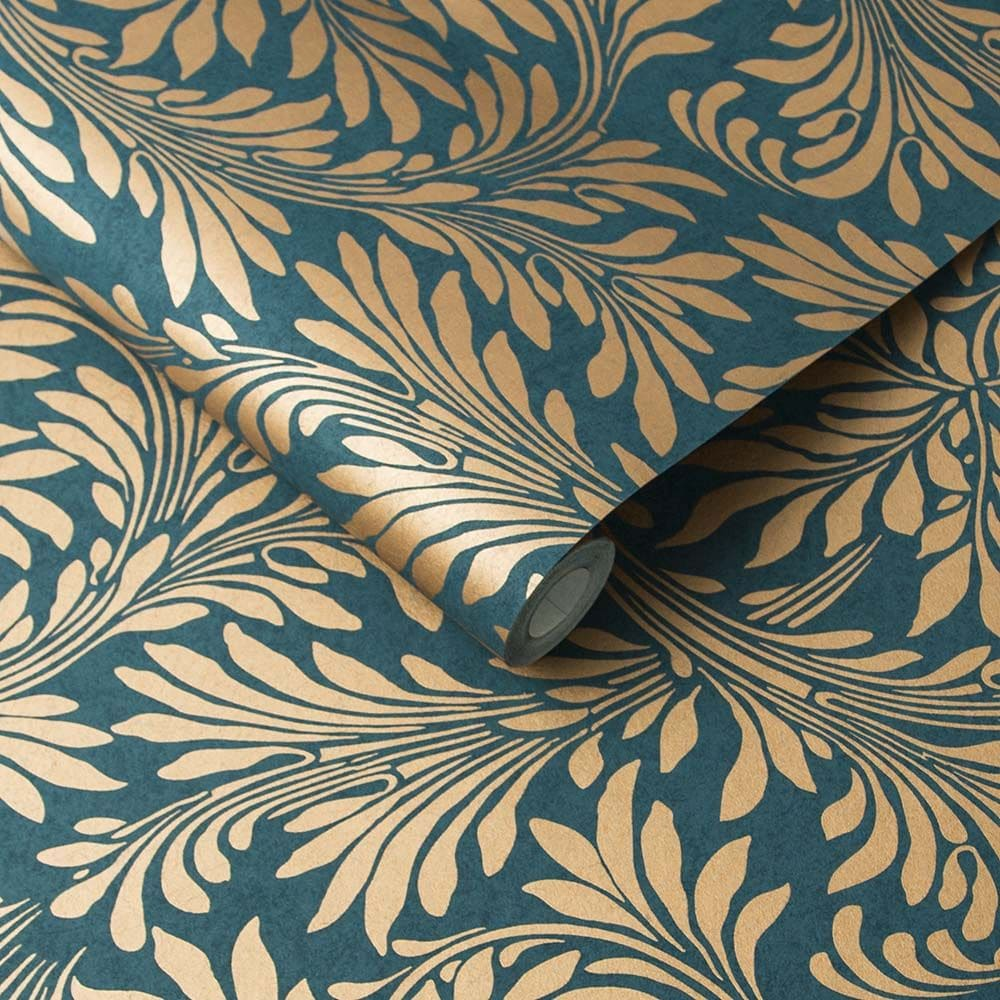 Forest Wallpaper - Spiced Teal - by Graham & Brown