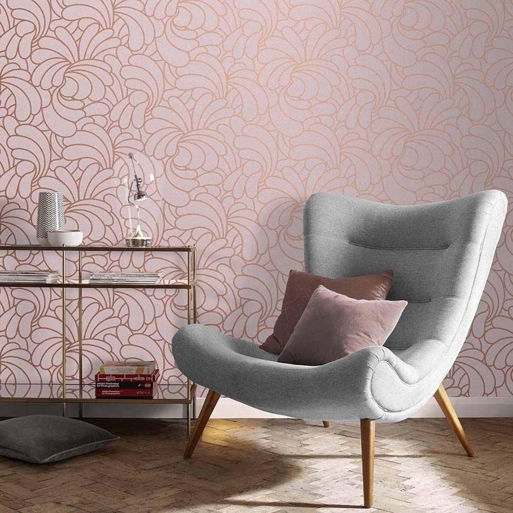 Bananas Wallpaper - Copper Blush - by Graham & Brown