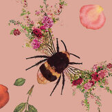 Hattie Lloyd Bee Bloom Dusky Pink Wallpaper - Product code: HLBBP2