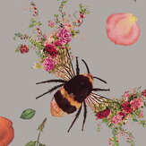Hattie Lloyd Bee Bloom Silver Wallpaper - Product code: HLBBS5