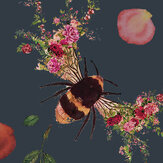 Hattie Lloyd Bee Bloom Dark Blue Wallpaper - Product code: HLBBDB7