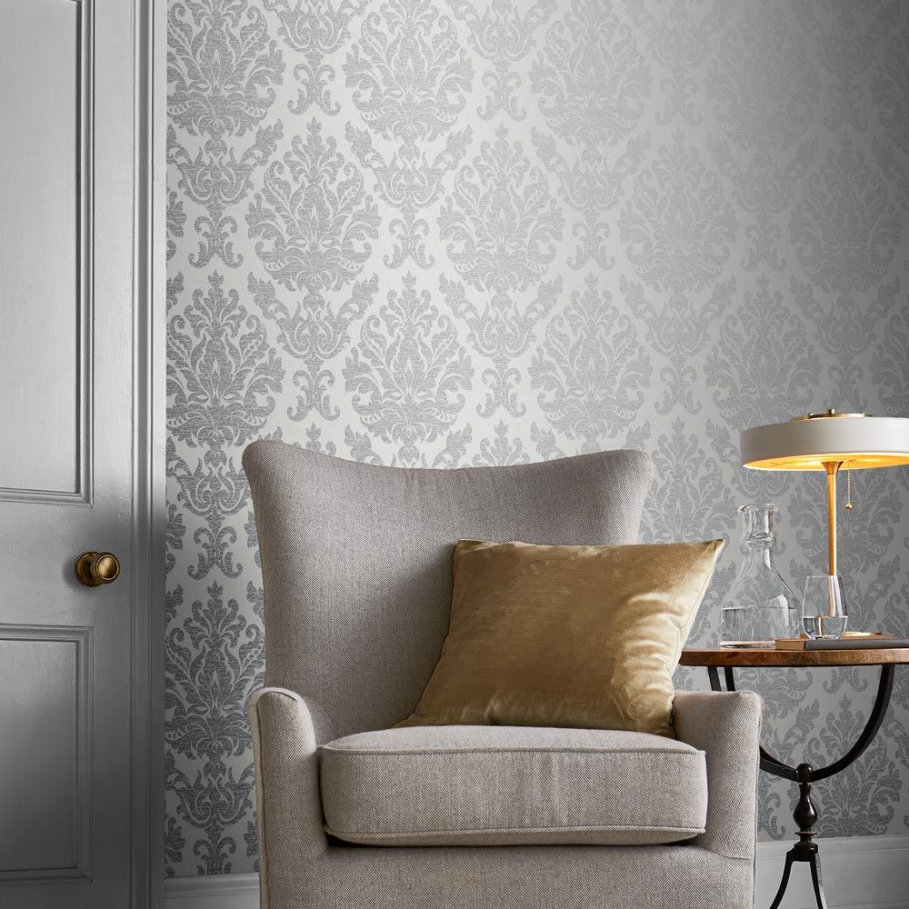Antique Wallpaper - Grey - by Graham & Brown