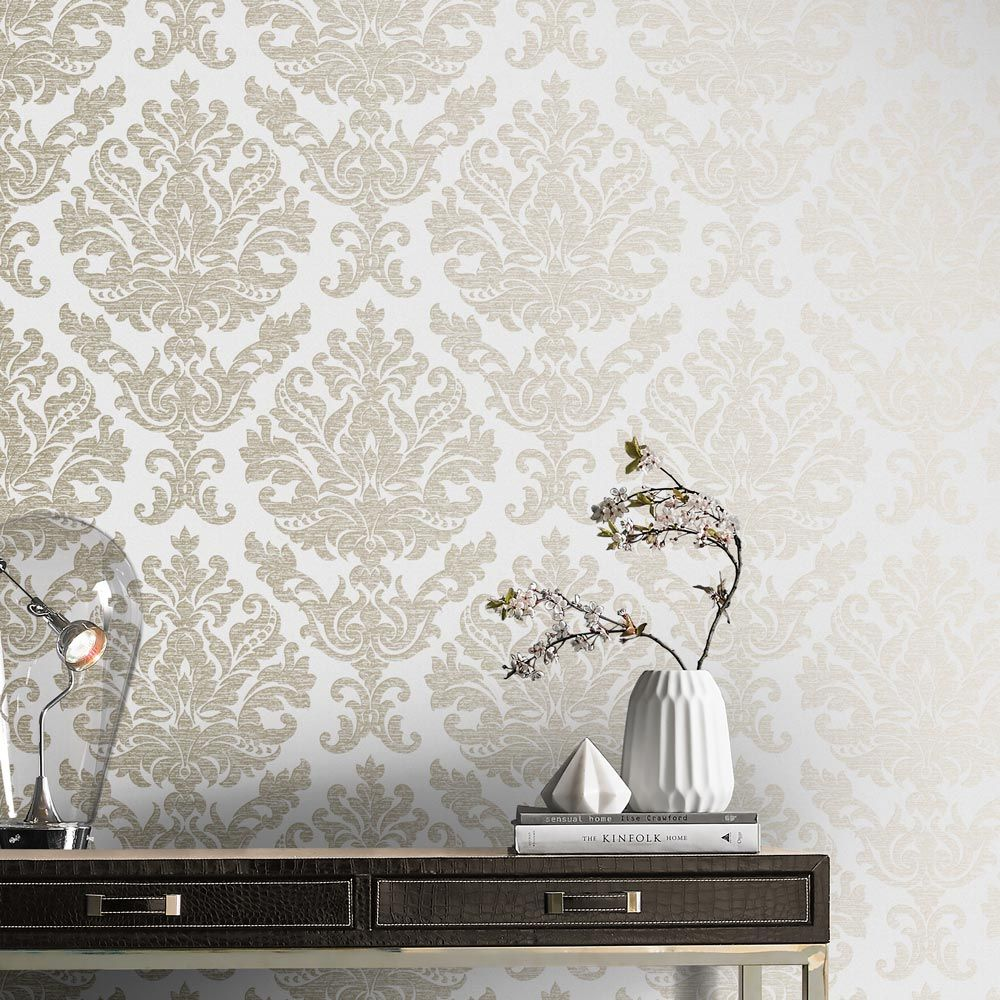Graham & Brown Antique Ivory Wallpaper - Product code: 105450