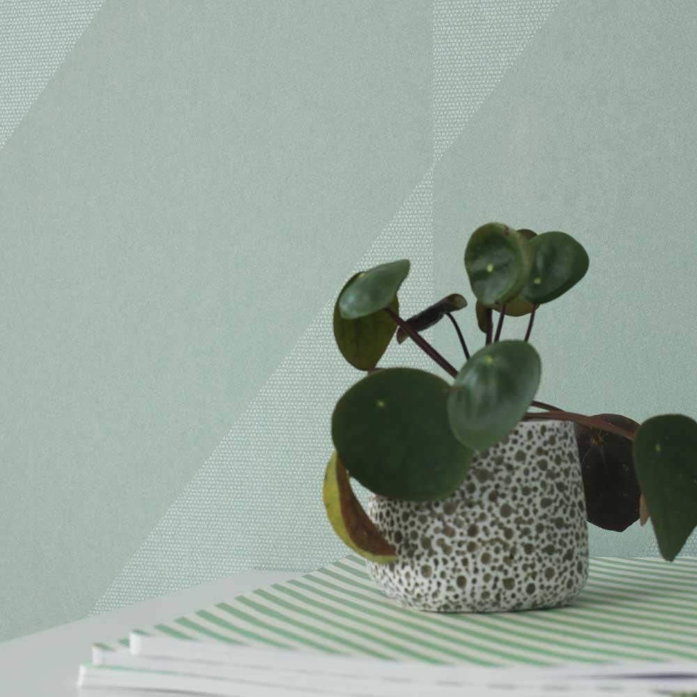 Casadeco Oblique Sea Foam Green Wallpaper - Product code: 82067116