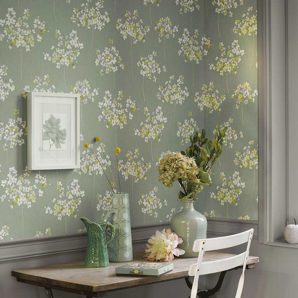Boboli Wallpaper - Green - by Casadeco