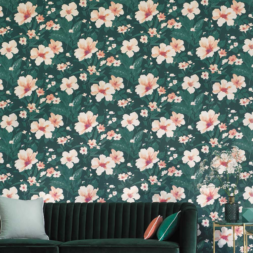 Luxembourg Wallpaper - Green - by Casadeco