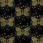 Christian Lacroix Les Messagers Black and Gold Fabric - Product code: FCL7042/01